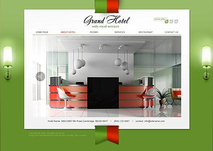 Grand Hotel Website Design