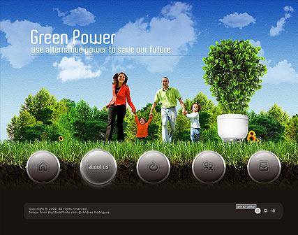 Green Power Website Design