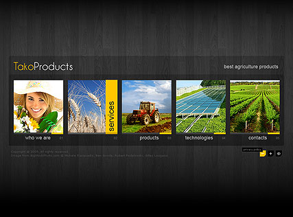 Agriculture Products Website Design