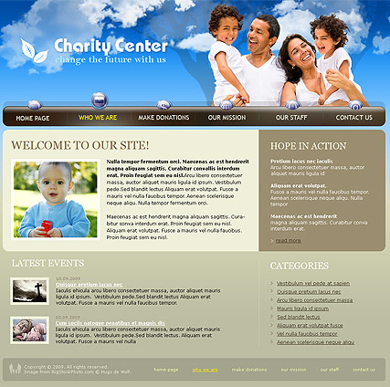 Charity Center Website Design
