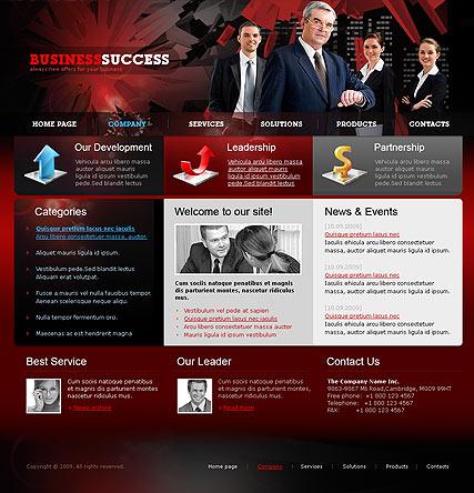 Business Red Website Design