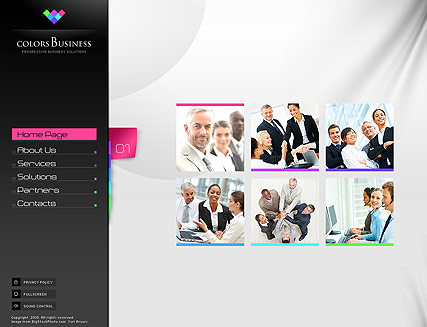 Business Colors Website Design