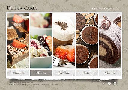 Cakes Website Design