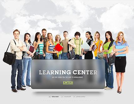 Learning Center Website Design