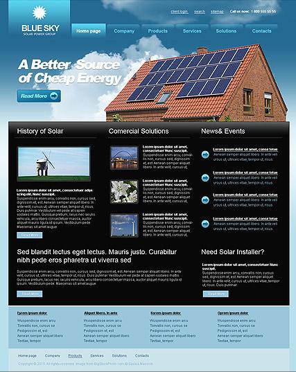 Solar Energy Website Design