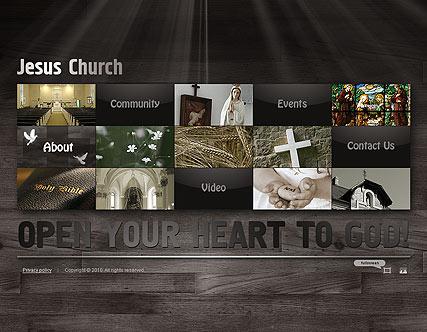 Jesus Church Website Design
