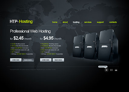 Web Hosting Website Design