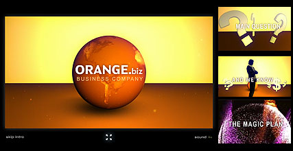 Orange Business Website Design