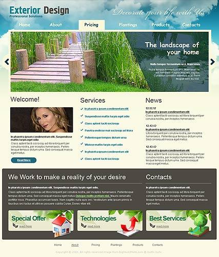 Exterior design Website Design