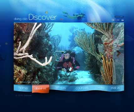 Diving club Website Design