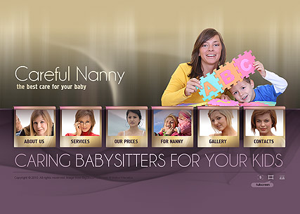 Nanny Service Website Design