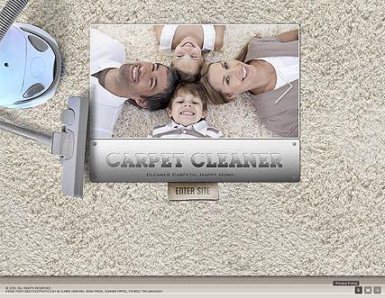 Carpet Cleaner Website Design