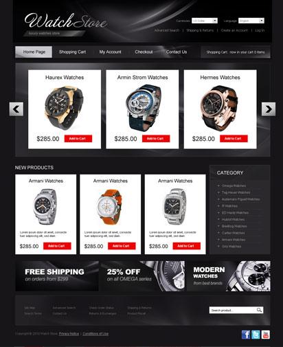 Watch store Website Design