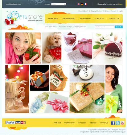 Gifts store Website Design