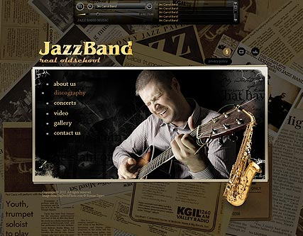 JazzBand Website Design