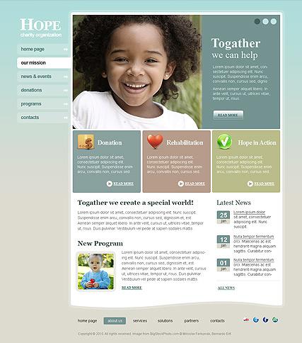 Charity Hope Website Design
