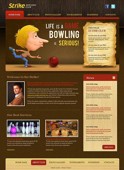Bowling Club Website Design