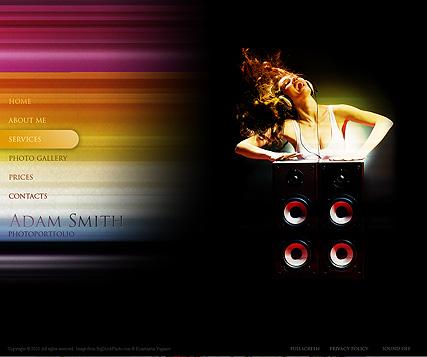 Gallery in color Website Design