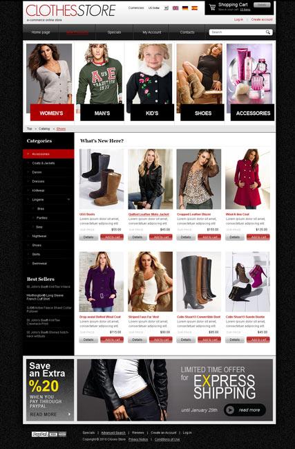 Clothes 2.3 ver. Website Design