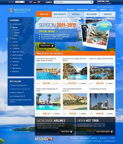 Travel Agency 2.3 Website Design