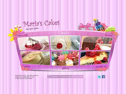 Best Cakes Website Design