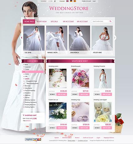 Wedding Store 2.3ver Website Design