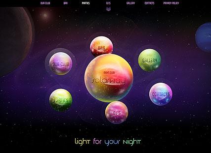 Planet CLub Website Design
