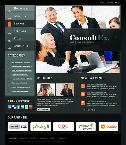 Business Slide Website Design