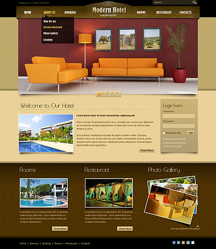 Hotel v2.5 Website Design