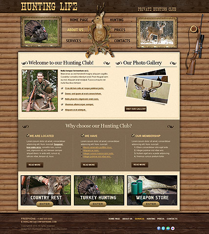 Hunting Club Website Design