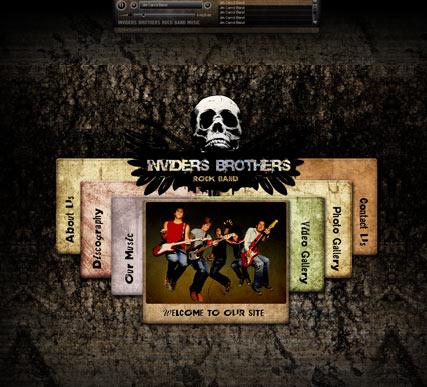Rock Band Website Design