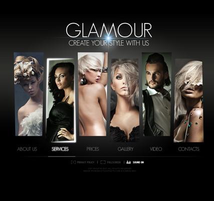 Hair Saloon Website Design