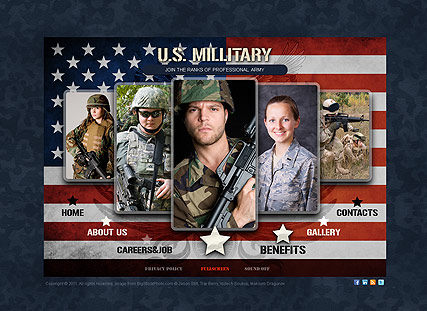 US Military Website Design