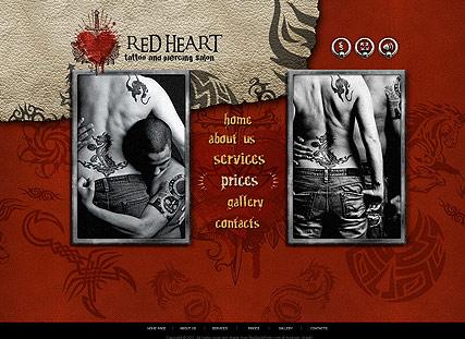 Tattoo Salon Website Design
