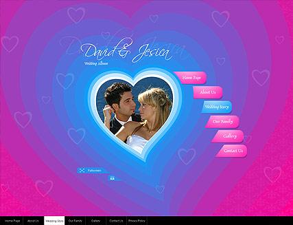 Wedding Album Website Design