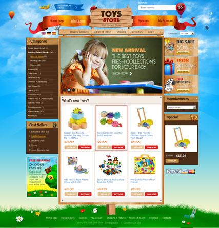 Toys Store 2.3ver Website Design