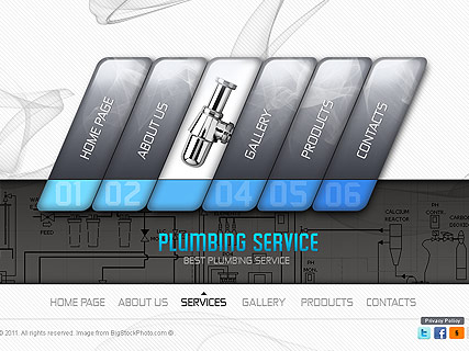 Plumber Service Website Design