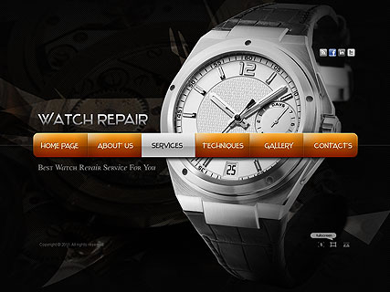 Watch Repair Website Design