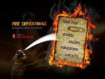 Fire Department Website Design
