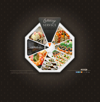 Catering service Website Design