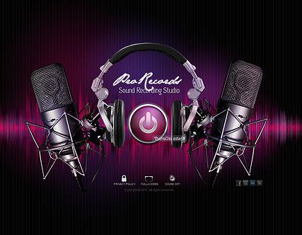 Sound Recording Website Design