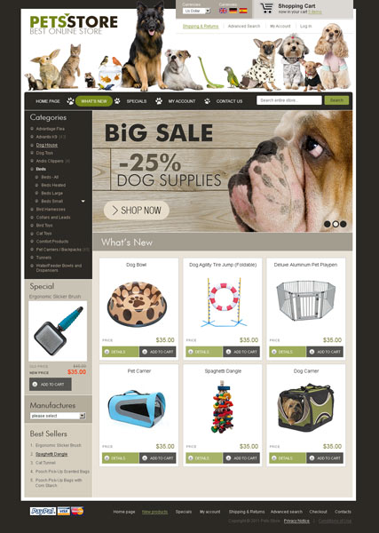 PetsStore 2.3ver Website Design