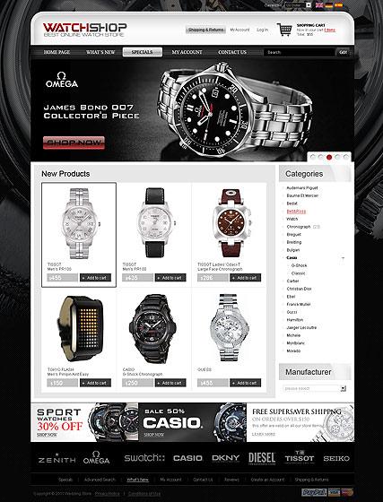 Watch Store 2.3ver Website Design