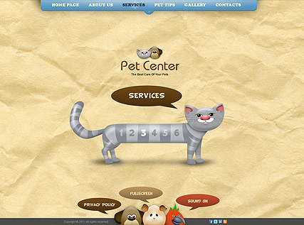 Pet Center Website Design