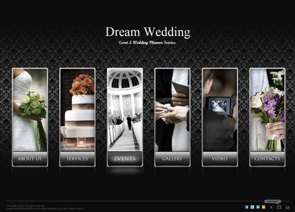 Dream Wedding Website Design
