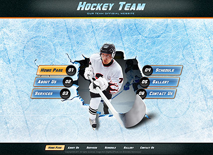 Hockey Team Website Design