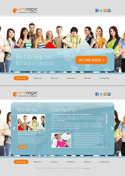 Recruiting Agency Website Design