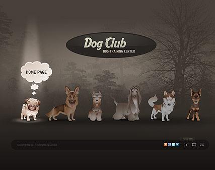 Dog CLub Website Design