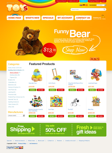 Toys Store 2.3ver Website Design