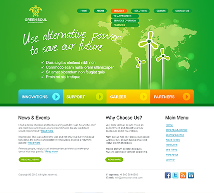 Alternative power v2.5 Website Design